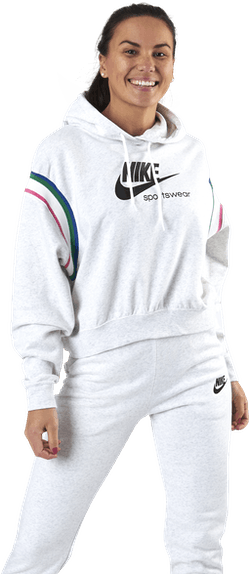 Womens Nsw Heritage Hoodie Birch Heather/Black