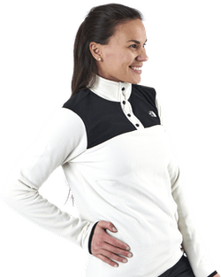 TKA Glacier Snap-Neck Pullover White/Black