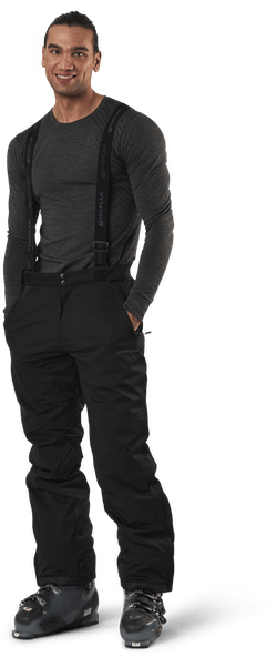 Gippslang Functional Ski Pants W-PRO 15000 Black