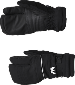 Allegro 3 Finger Ski Gloves Black