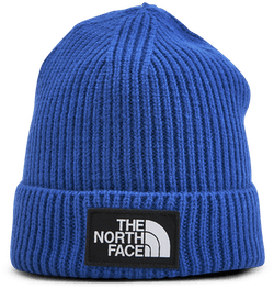 TNF Box Logo Cuff Beanie Jr Blue