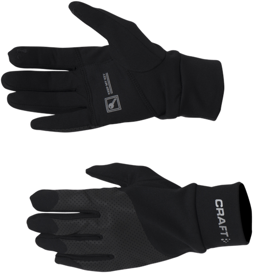 Lumen Fleece Glove Black