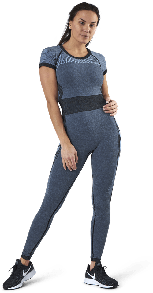 Sky Seamless Jumpsuit Blue/Black