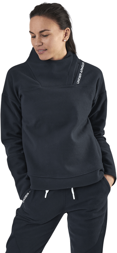 Recover Fleece Wrap Neck Black