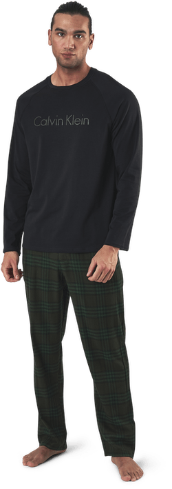 Flannel L/S Pant Set Green/Black
