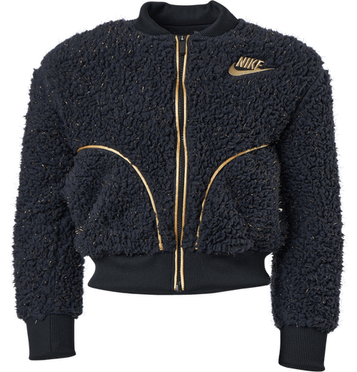 NSW Sherpa Shine Bomber Jr Black