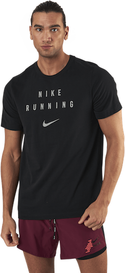 Dri-Fit Run Division Tee  Black