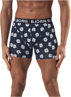 Sammy Flower Grid Short Blue