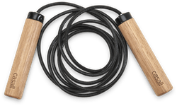 ECO Jump rope wood Black/Beige
