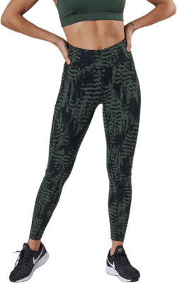 Iconic Printed 7/8 Tights Green