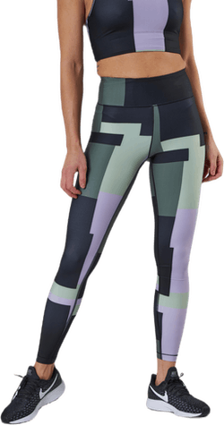 Printed Sport Tights Green
