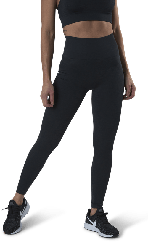 Shiny Alligator Seamless Tights Grey