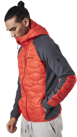Helium Hybrid Hood Jacket Red
