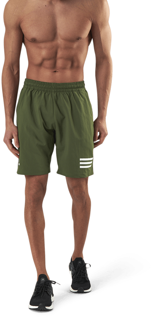 Club 3-Stripe Shorts White/Green