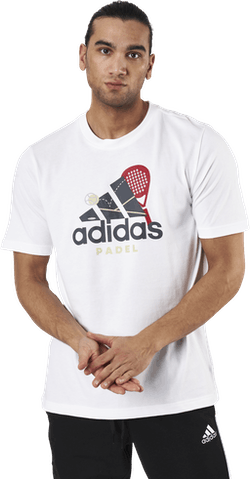 Padel Graphic Logo White