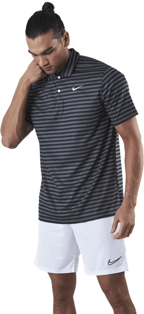Dri-FIT Striped Pique White/Grey