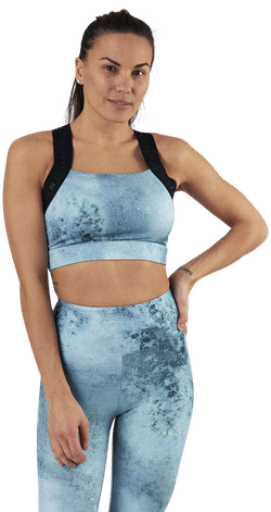 Kay Printed Sports Bra Green