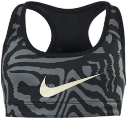 Jr Swoosh AOP Reversible Bra Black