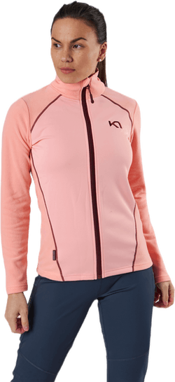 Kari Full Zip Shirt Fleece Pink
