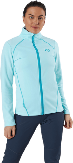 Kari Full Zip Shirt Fleece Blue