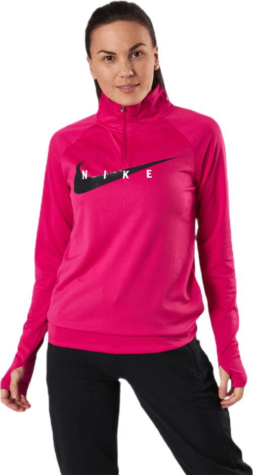 Swoosh Run 1/2-Zip Midlayer Black/Red