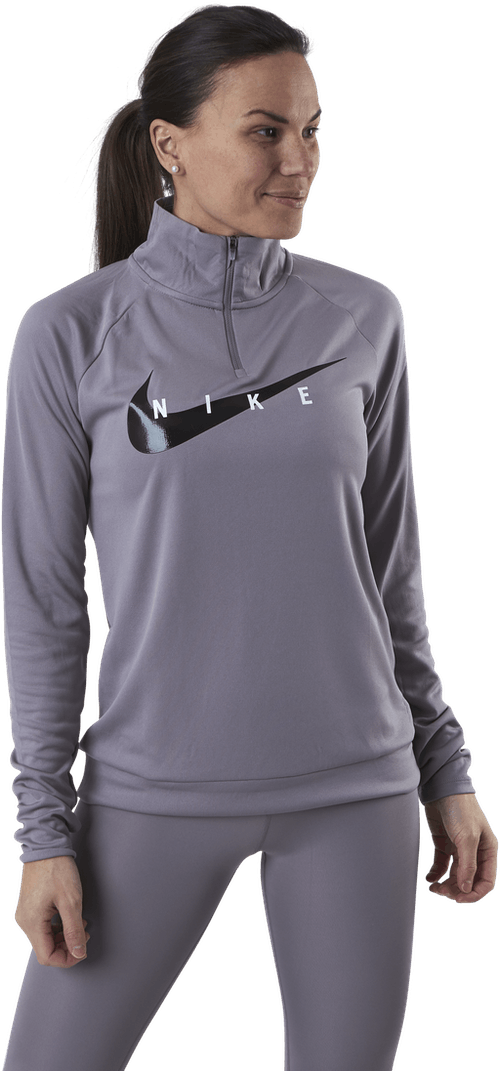 Swoosh Run 1/2-Zip Midlayer Purple/Black