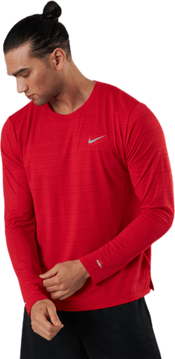 Dri-FIT Miler Top LS Silver/Red