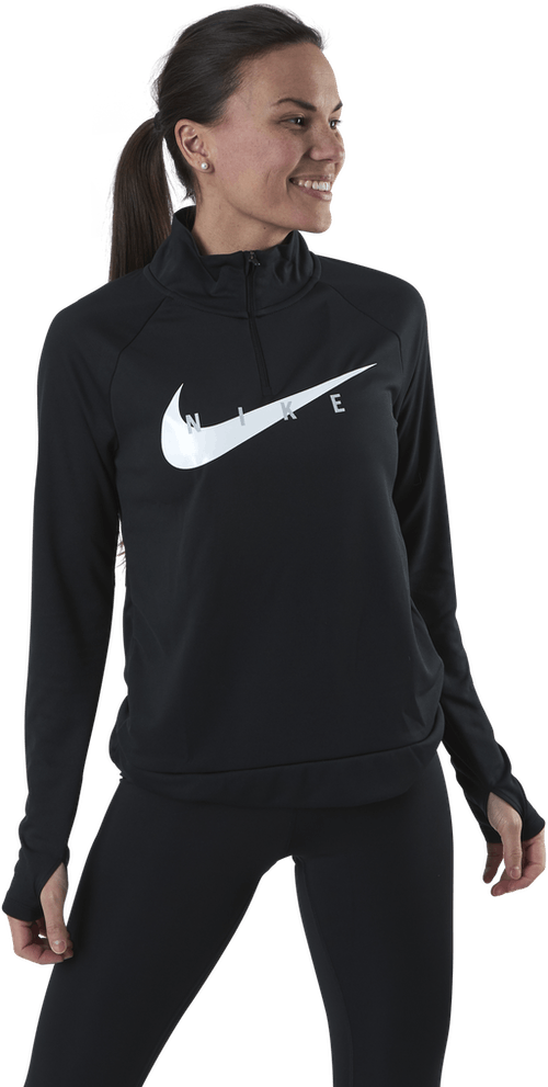 Swoosh Run 1/2-Zip Midlayer White/Black
