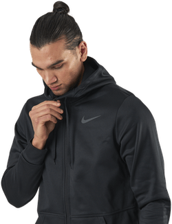 Therma Full-Zip Hood Black/Grey