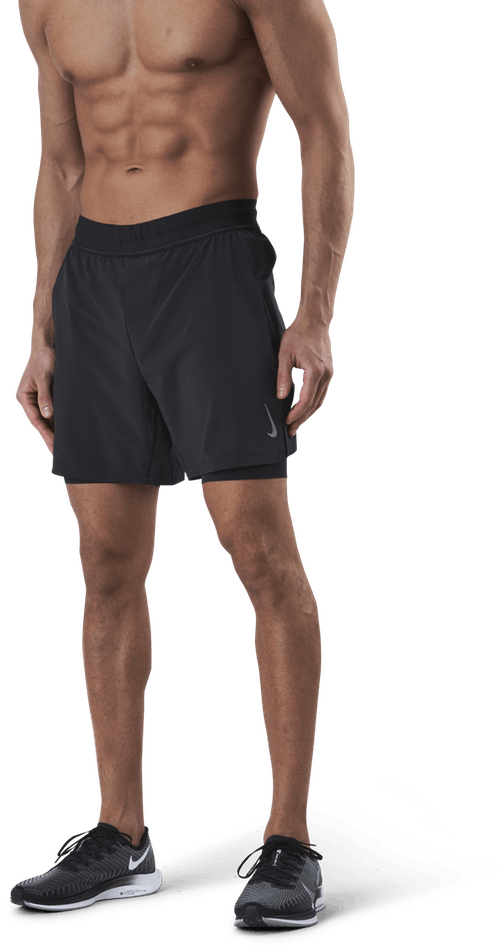 2-in-1 Yoga Shorts Black/Grey