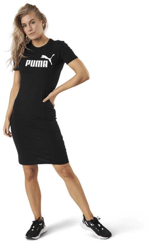 Essential Slim Tee Dress Black