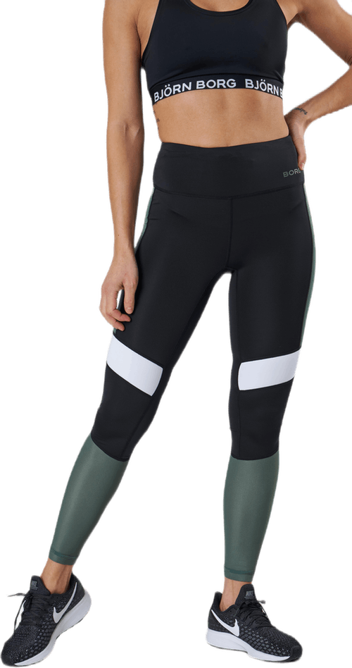 High Waist Block Tight Green