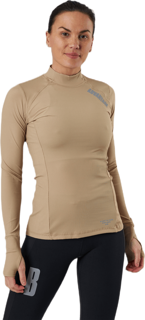 Night Rib LS Tee Beige