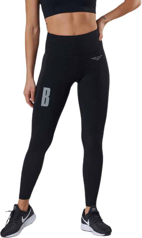 Night Rib Blocked Tight Black