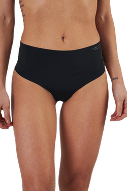 Henni Solid High Waist String Black