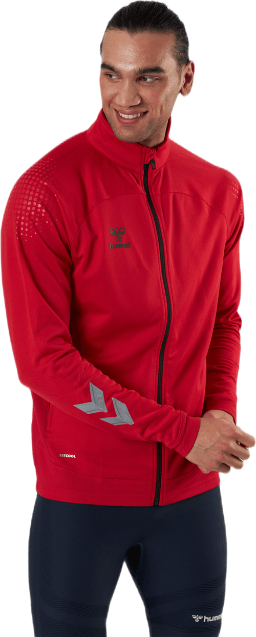 Poly Zip Jacket Red