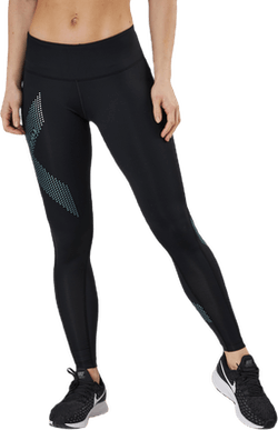Mid-Rise Compression Tights Blue/Black