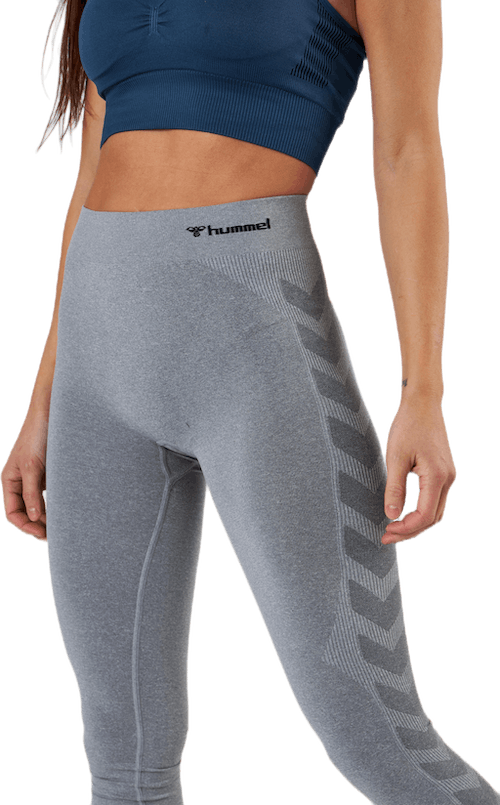 Seamless Mid Waist Tight Grey
