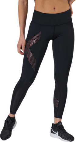 Mid-Rise Compression Tights Black/Red
