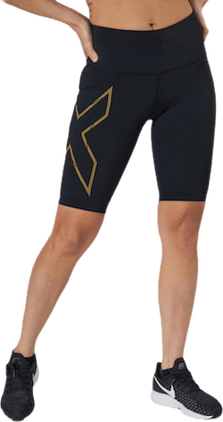 Light Speed Mid-Rise Compression Black/Gold