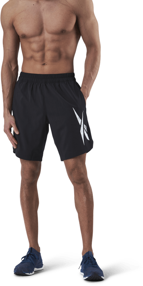Wor Woven Graphic Short Black