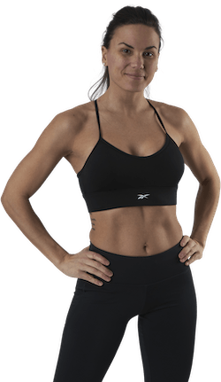 Wor Tri Back Bra- Pad Black