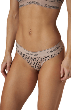 Modern Cotton Thong Beige