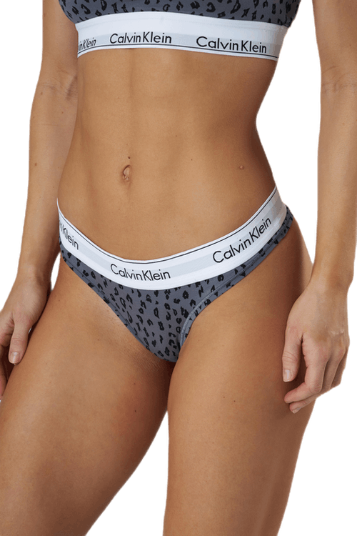 Modern Cotton Thong Grey