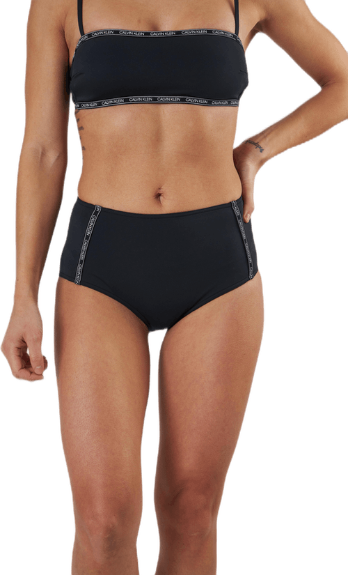 Core Logo Tape High Waist Bikini Brief Black