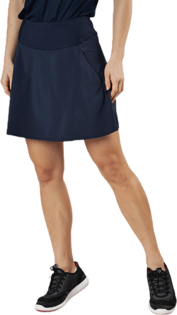 Powershape Solid Woven Skirt Blue