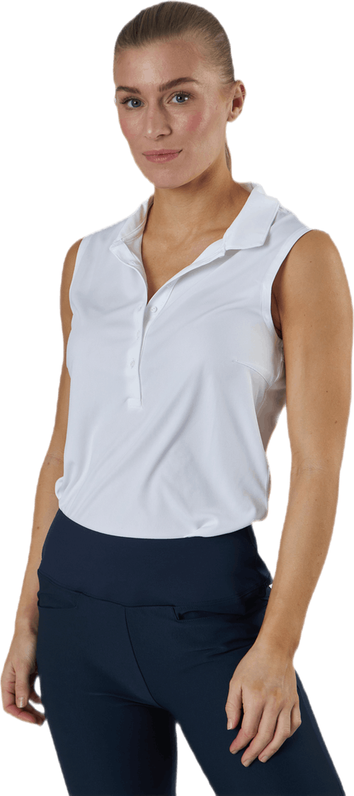 Rotation Sleeveless Polo White