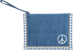 X Rth Peace Jeans Wallet Blue
