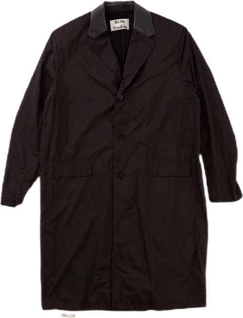 Sagan Nylon Trenchcoat Black