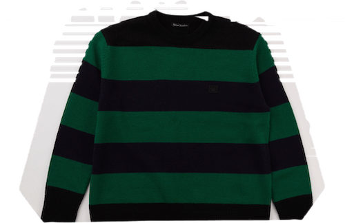 Block Stripe Knitwear Black
